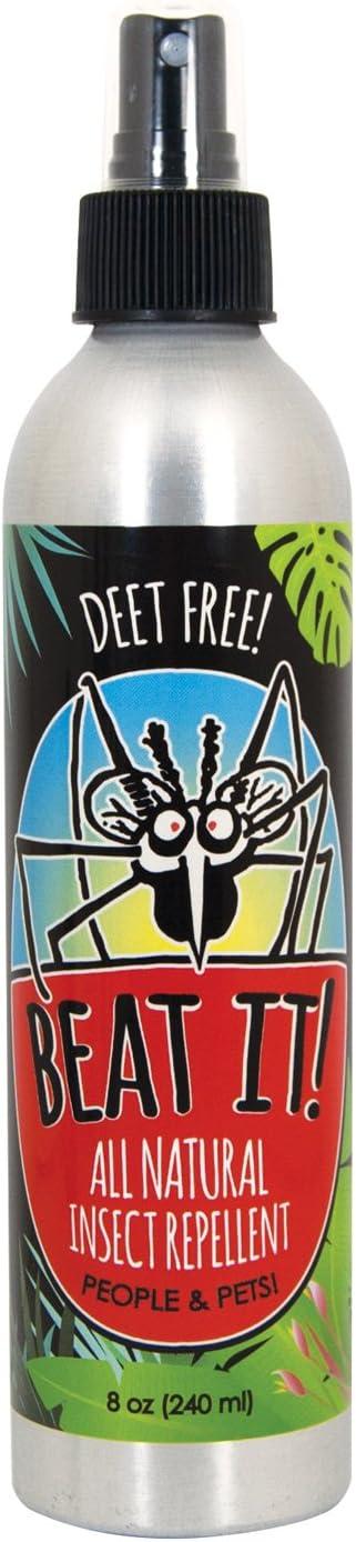 Beat IT! All Natural Deet-Free Insect Repellent (8 oz Aluminum Bottle)