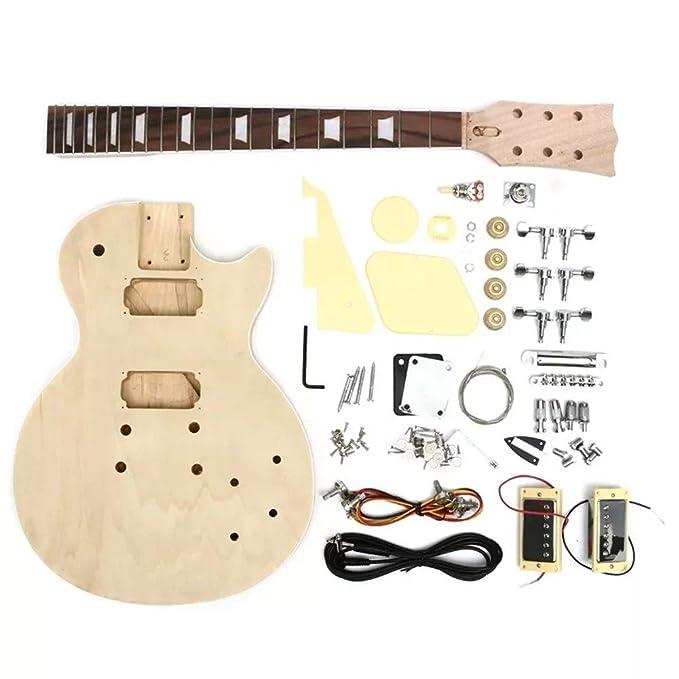 HU ZHANG Navidad Guitarra eléctrica de Bricolaje de Madera Maciza ...
