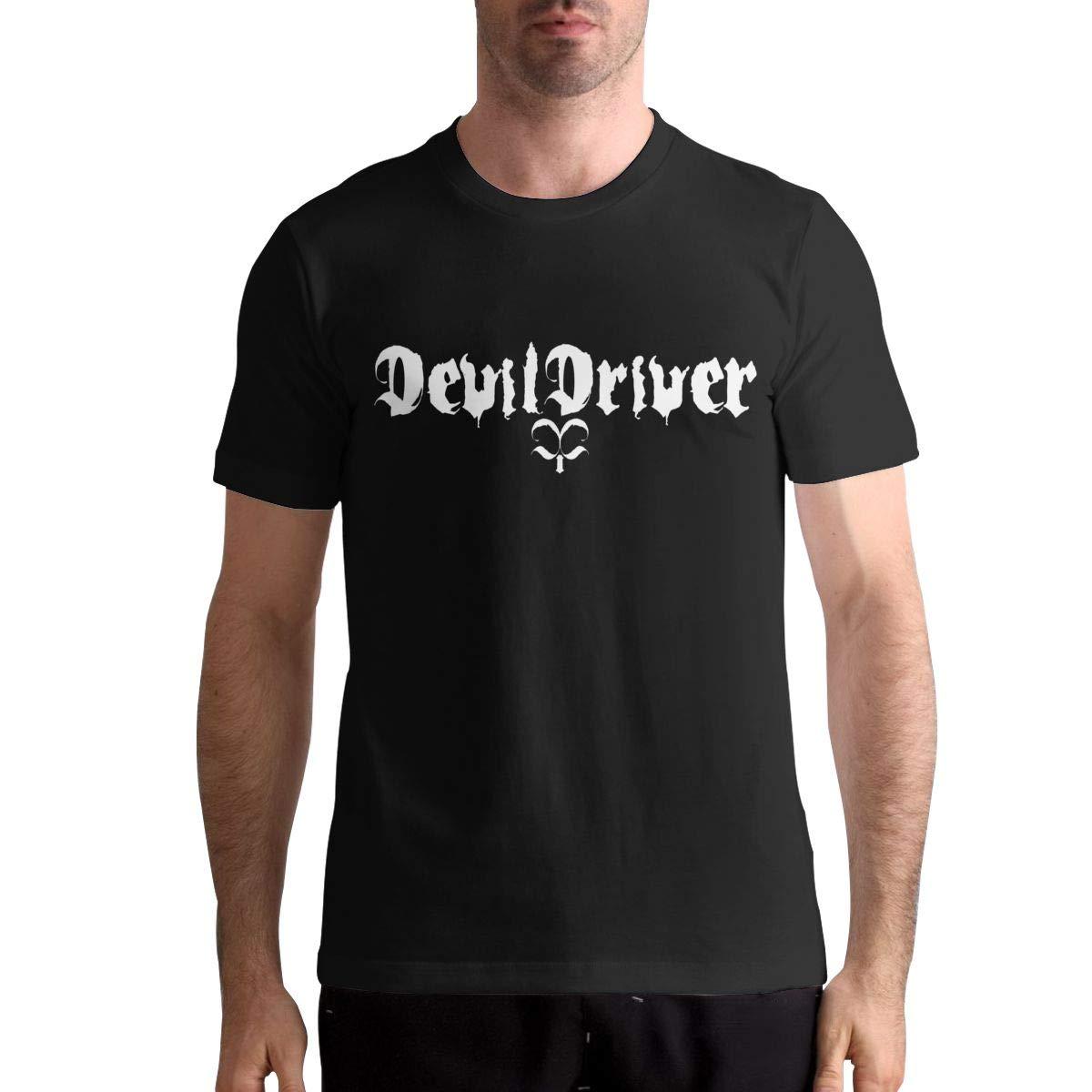 DevilDriver Shirt Men T-Shirt Casual Classic Short Sleeve Tops
