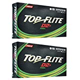 2pk Top Flite D2+ Feel Golf Balls - White - 30 Balls