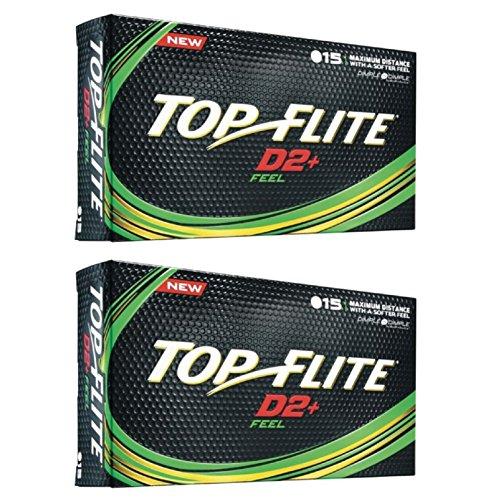 (2pk Top Flite D2+ Feel Golf Balls - White - 30 Balls)