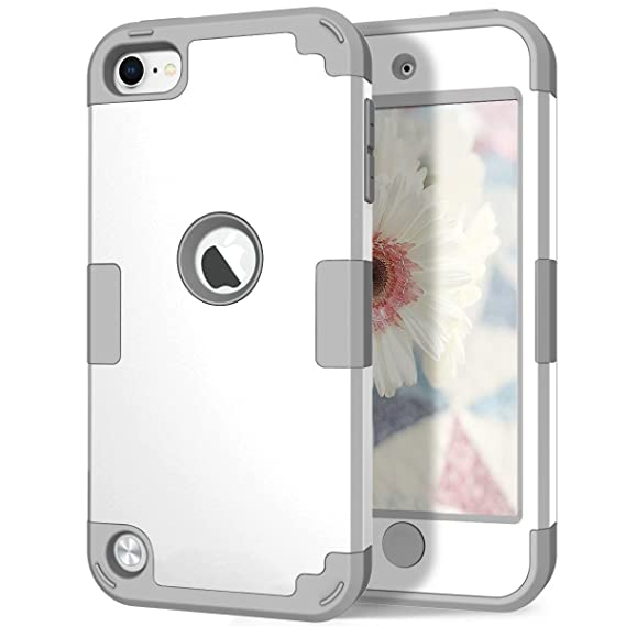 release date: 925df d9be1 iPod 6th/5th Generation Case, Hocase Heavy Duty Protection Shock Absorbent  Silicone Hard Plastic Full Body Protective Case for iPod Model ...