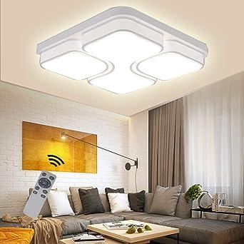 48W Quadrat Kaltweiß Deckenlampe Acryl LED Deckenleuchte Wohnzimmer Küche Lampe