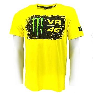 Valentino Rossi VR46 Monster Energy Logo Camiseta Amarilla Oficial: Amazon.es: Deportes y aire libre