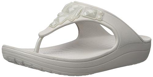 0e1ada53a1e3 crocs Women s Sloane Crystal Flip Flop