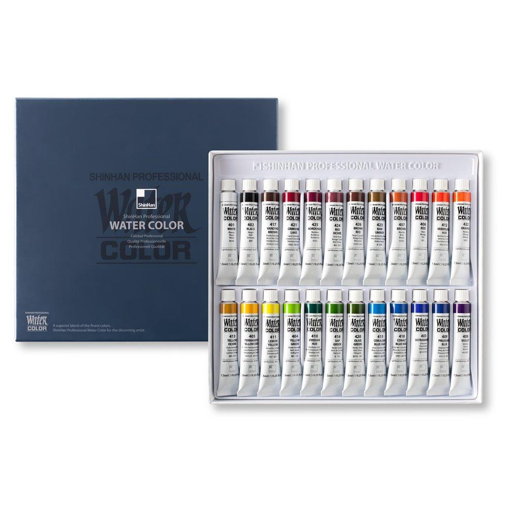 Mua SHINHAN Professional Watercolor Paint 7.5ml Tubes 24 Color Set trên  Amazon Mỹ chính hãng 2021 | Fado