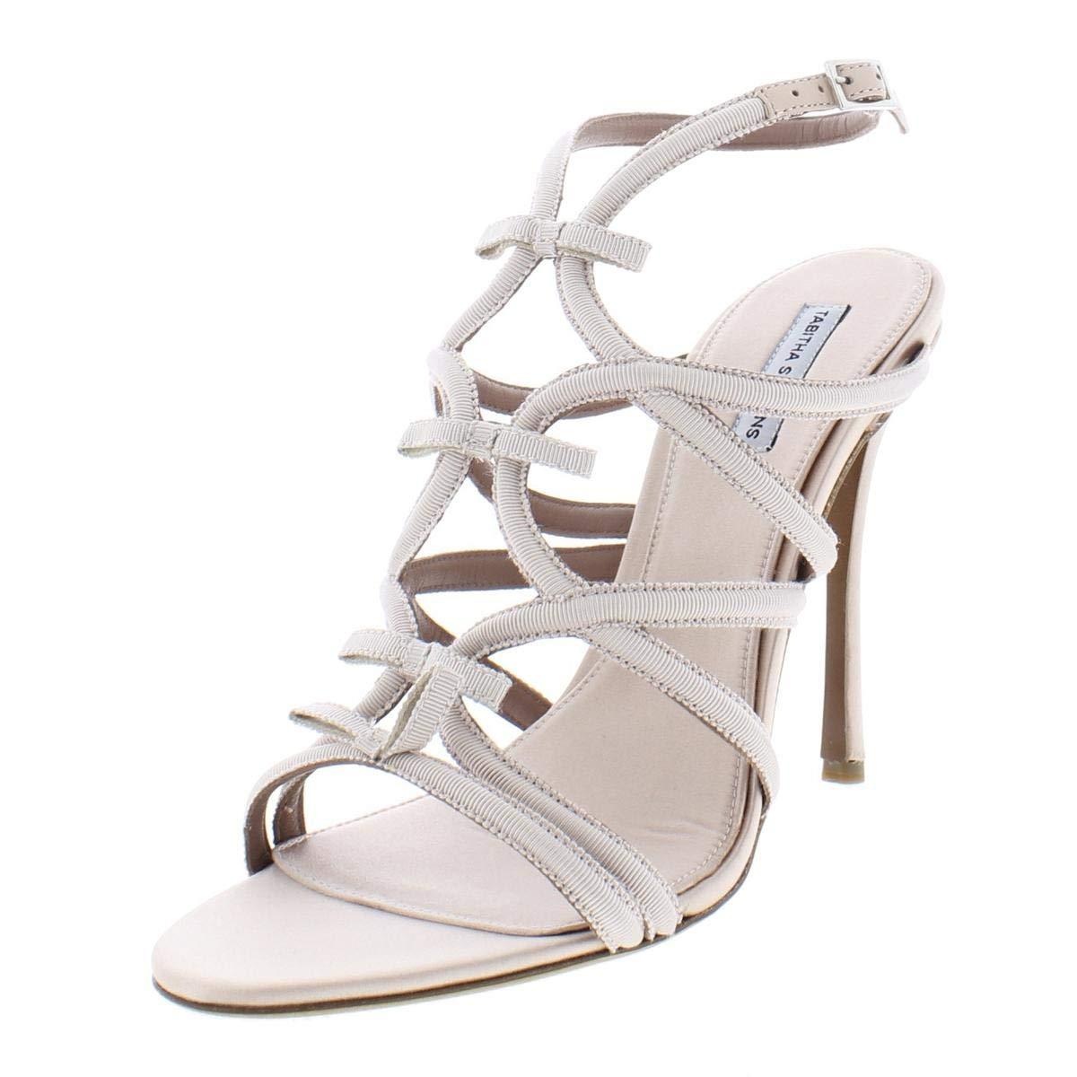 pink Grosgrain TABITHA SIMMONS Womens Bowrama Strappy Open Toe Heels