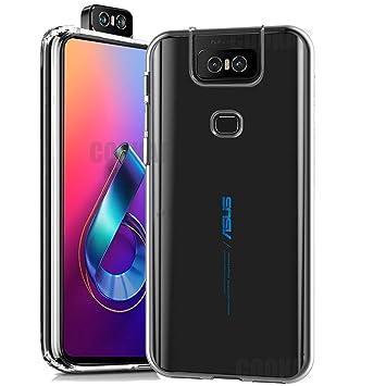 cookaR Funda ASUS Zenfone 6 2019 ZS630KL HD Cristal, Carcasa Antigolpes Suave Silicona Duradera Caso Protection Cover para ASUS ZS630KL Smartphone, ...