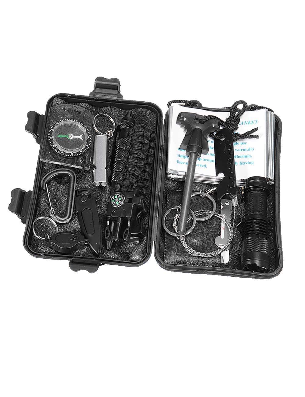 ROLLBERTO Auto Außen Erste-Hilfe-Kit Werkzeugkasten Dringend Outdoor EDC Survival Supplies Box Set