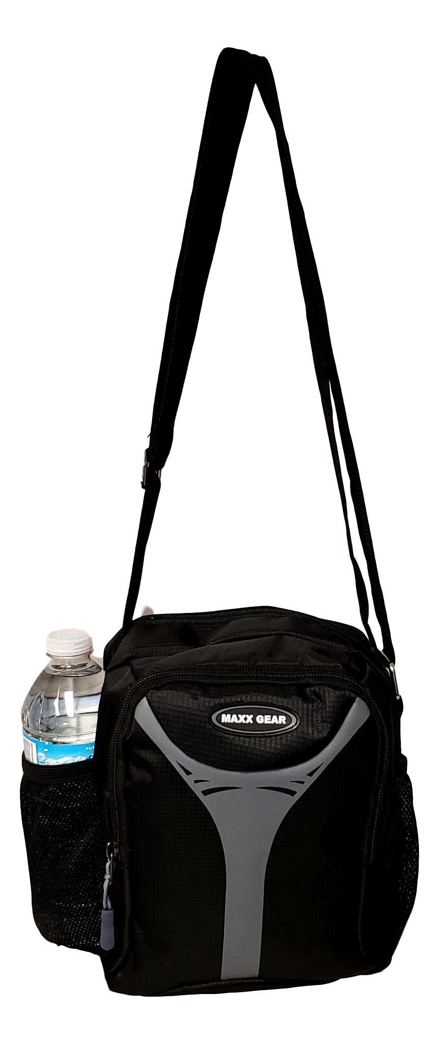 Unisex Excursion Organizer Day Pack Shoulder Bag (Black - Gray)
