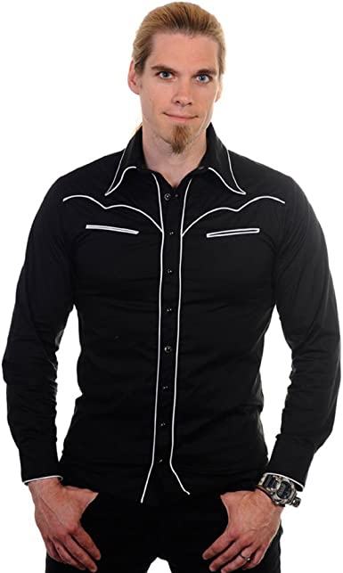 Banned - Camisa casual - para hombre negro S: Amazon.es: Ropa ...