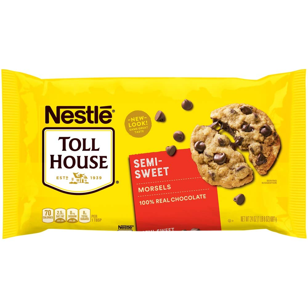 Nestle Toll House, Semi-Sweet Chocolate Chip Morsels, 24 oz