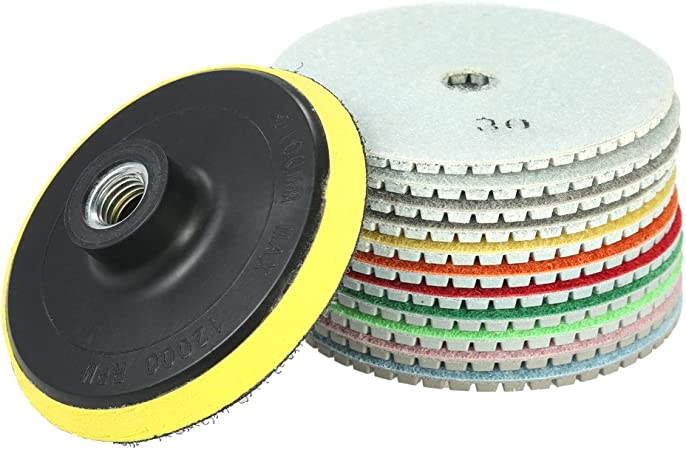Wet Diamond Marble Granite Polishing Pad//Disc set 12+1