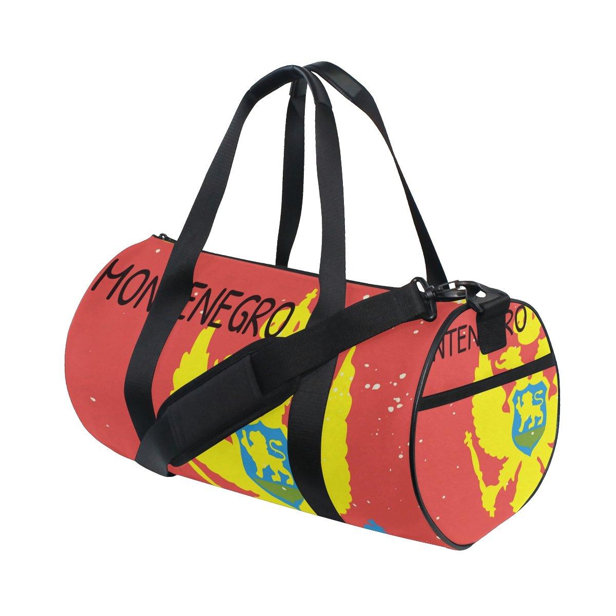 Distressed Montenegro Flag Travel Duffel Shoulder Bag ,Sports Gym Fitness Bags