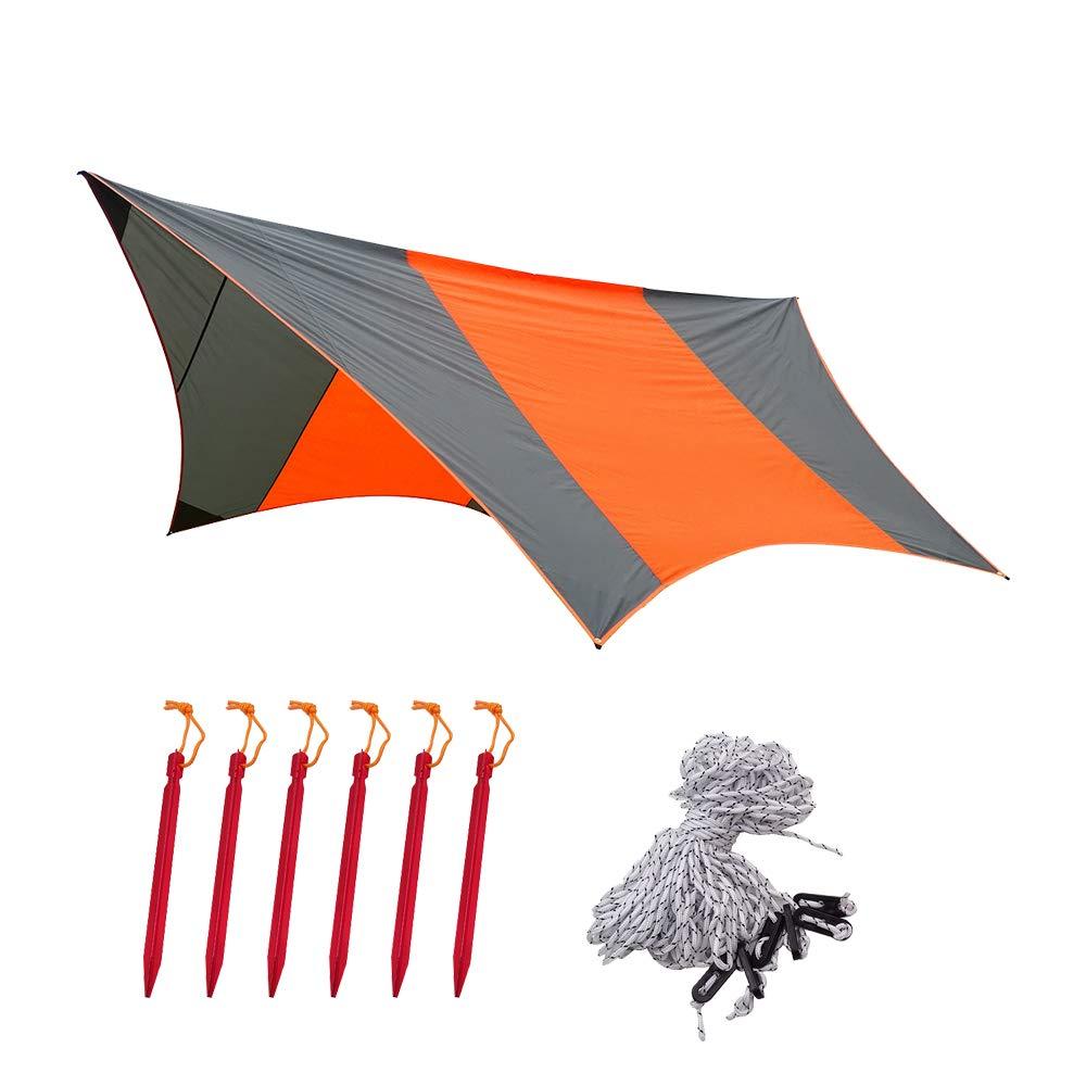 Top Lander B/âche Tente Tarp Imperm/éable Protection UV la Neige et Le Soleil,Toile de Tente Utilis/é pour Camping Randonn/ée Pique-Nique Plage en Plein Air