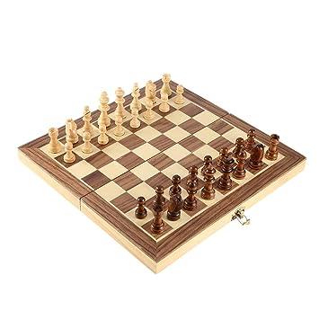 LouiseEvel215 Internationaler Schachspiel-Lehrwettbewerb /Übergro/ße Schachfigur Luxuri/öse Premium-Geschenkbox Schachbrett aus massivem Holz