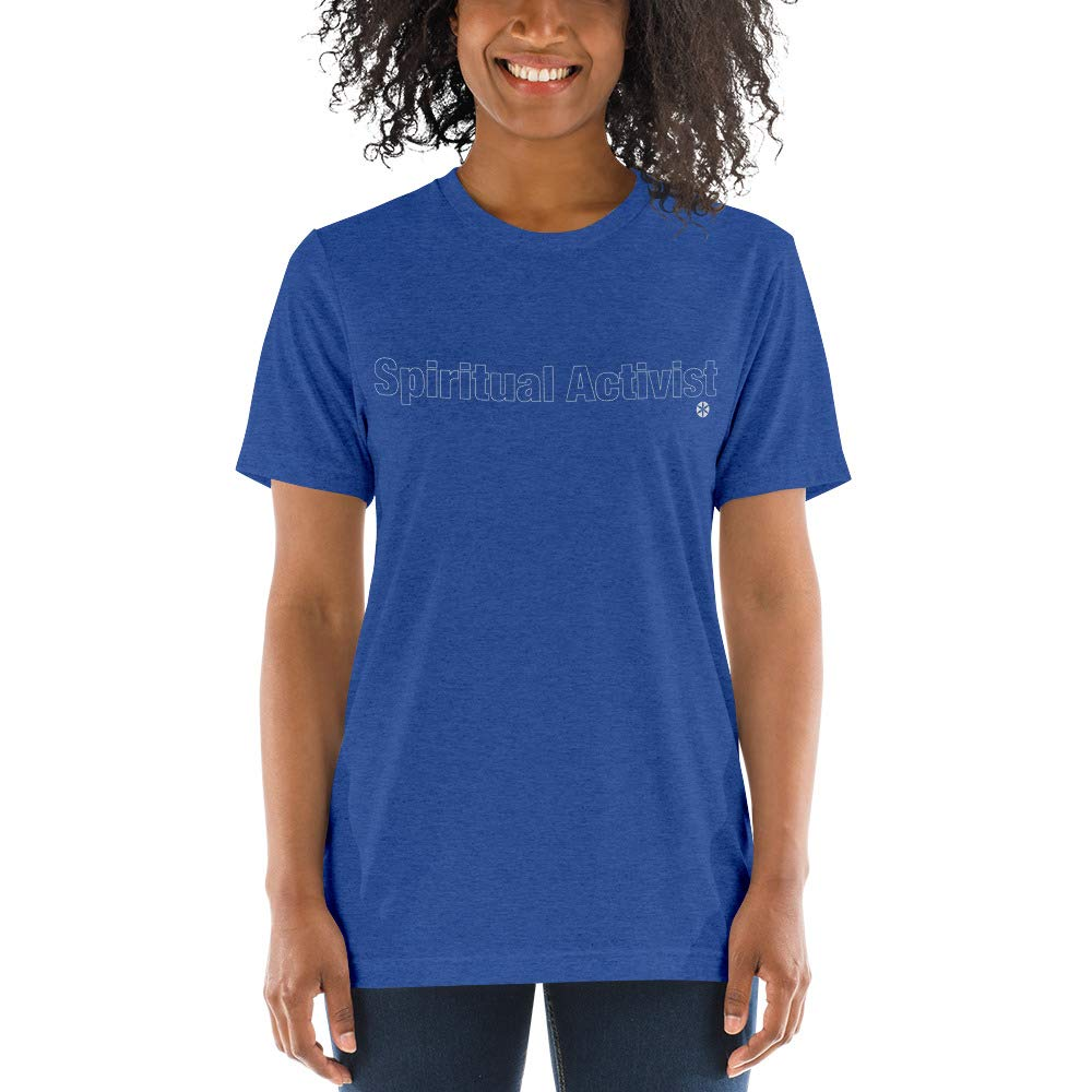 Tri-Blend Short Sleeve by Ananda Shanti Spiritual Activist Yoga and Meditation Tee Comfortable
