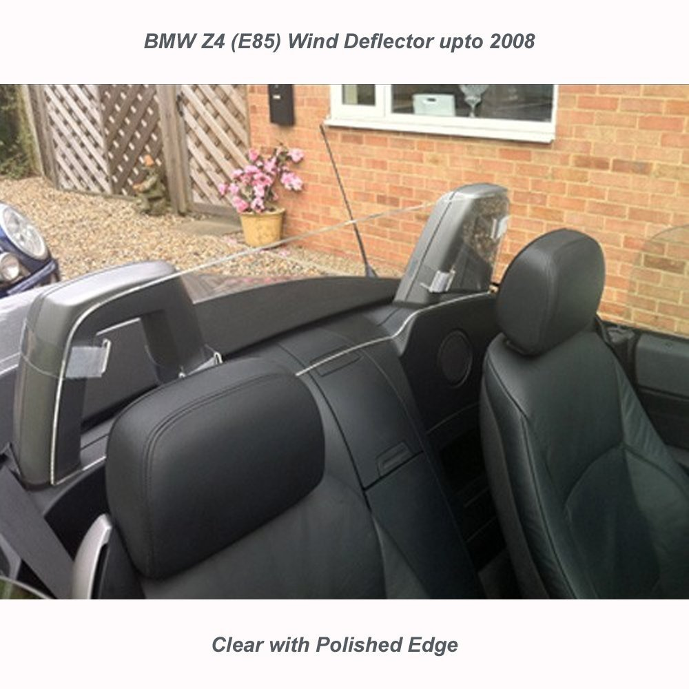 JR BMW Z4 E85 up to 2008 Wind Deflector Clear Perspex