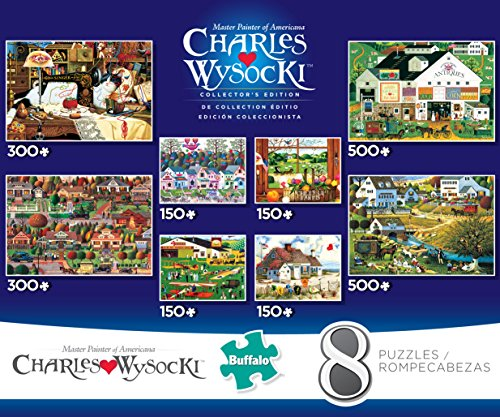 Buffalo Games Charles Wysocki 8-in-1 Collectors Edition Puzzle Multipack