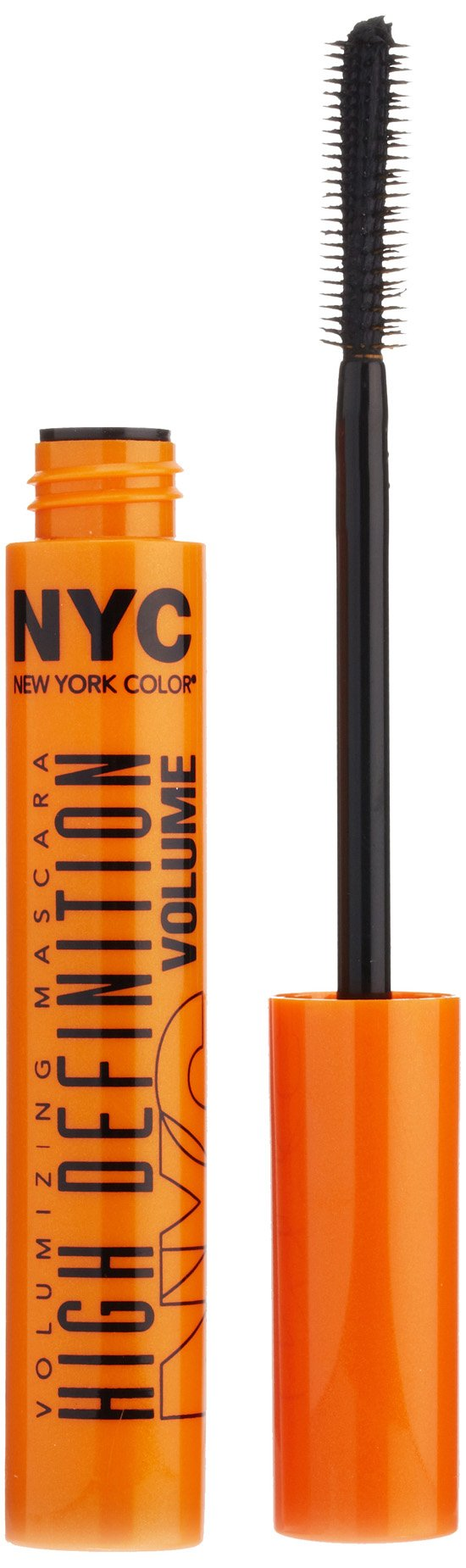 New York Color Mascara High Definition Volumizing Mascara, Extreme Black, 0.27 Fluid Ounce