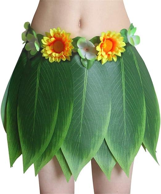 FAMLYJK Falda de Hierba para niño y Adulto, Falda foliar Hawaiana ...