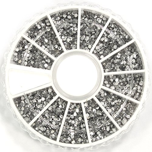 Tips Decoration Glitter Rhinestone Wheel (Generic 2400pcs 3D Nail Art Rhinestones Glitters Acrylic Tips Decoration Manicure Wheel)