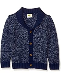 Toddler Boys' Long Sleeve Button up Shawl Cardigan