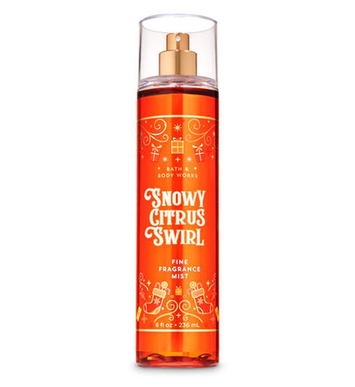 Bath and Body Works Snowy Citrus Swirl Fine Fragrance Mist 8 Ounce