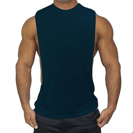 qiansheng para hombre algodón Modal gimnasio chaleco músculo Fit ...