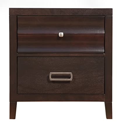 Amazon Arnot Contemporary Style 40 Drawer Bedroom Nightstand Amazing Cherry Mahogany Bedroom Furniture