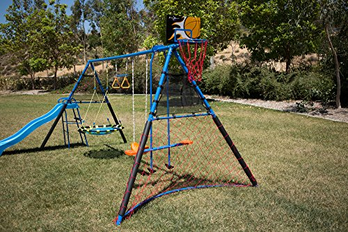 FITNESS REALITY KIDS 'The Ultimate' 8 Station Sports Series Metal Swing Set by FITNESS REALITY KIDS (Image #6)