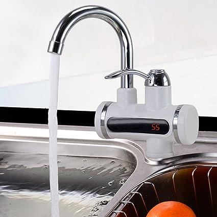 JOYOOO Llave de agua eléctrica + Interruptor frío y frío con indicador de la temperatura LED