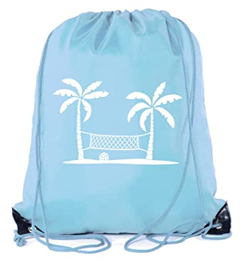 693b5239dd Mato   Hash Adult and Child Volleyball Drawstring Backpacks bags - Baby Blue  CA2500Volleyball S3