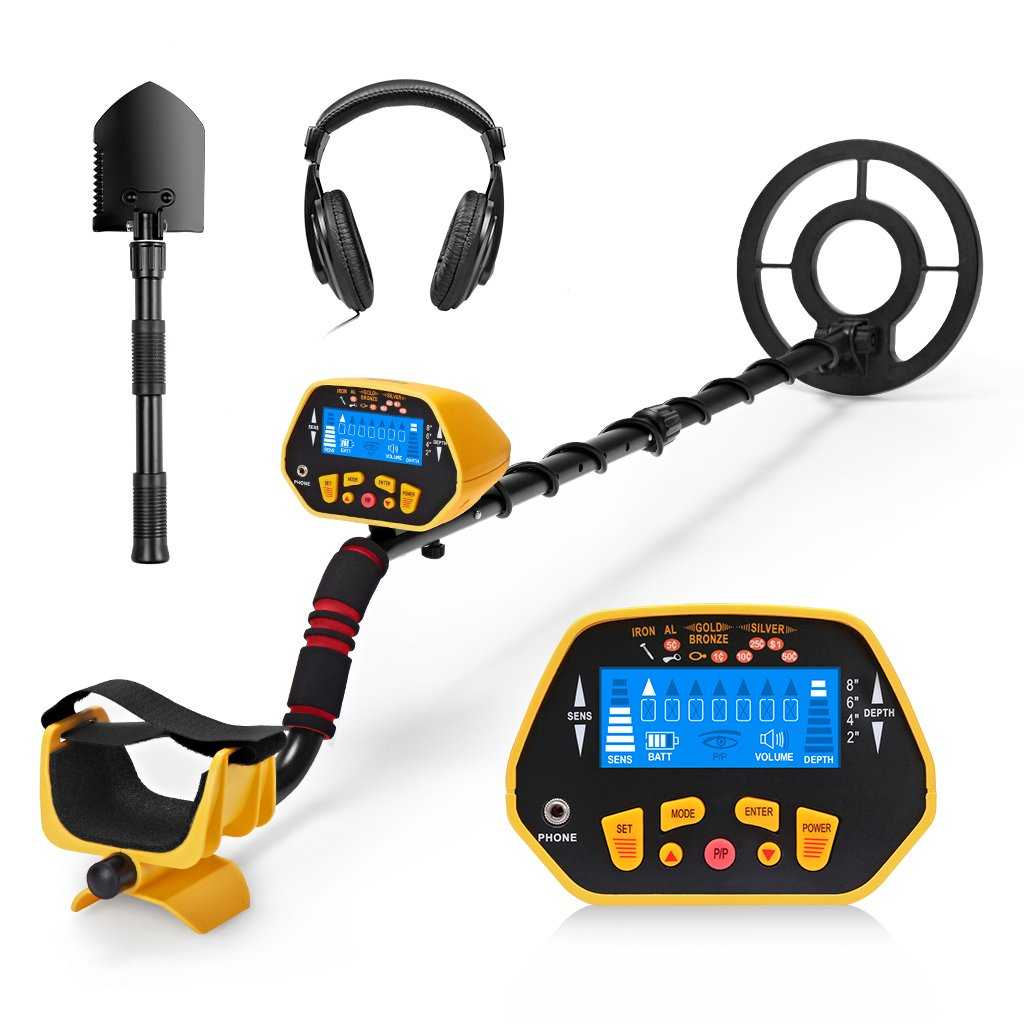 Amazon.com : URCERI GC-1028 Metal Detector High Accuracy Waterproof 2 Modes Outdoor Gold Digger with Sensitive Search Coil LCD Display for Beginners ...