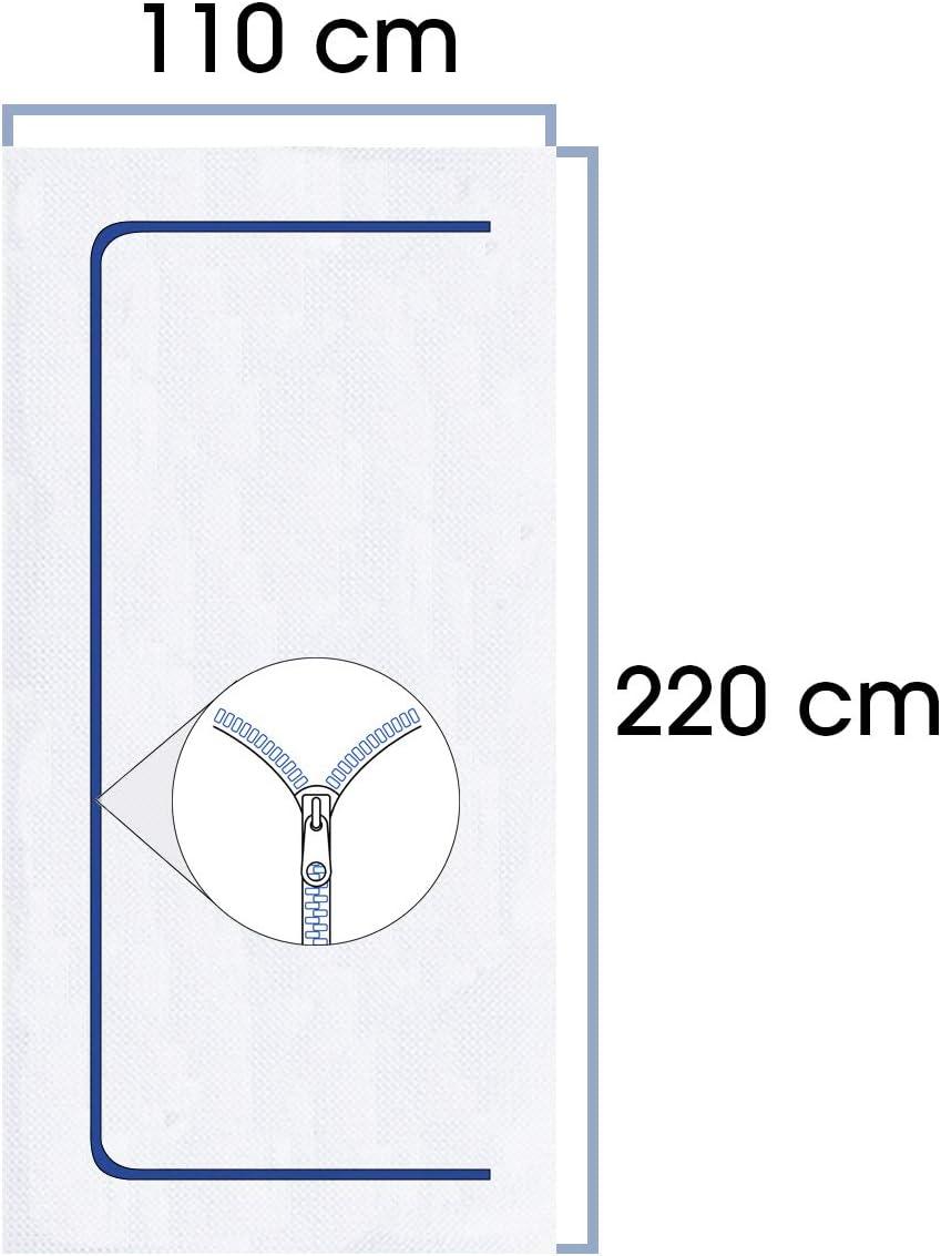 Rei/ßverschluss mit LDPE Abdeckfolie 4,00 x 5,00 m PP inkl 1,10 x 2,20 m aus staubdichtem Polypropylen-Vlies Staubschutzt/ür Baut/ür Staubschutz Vlies