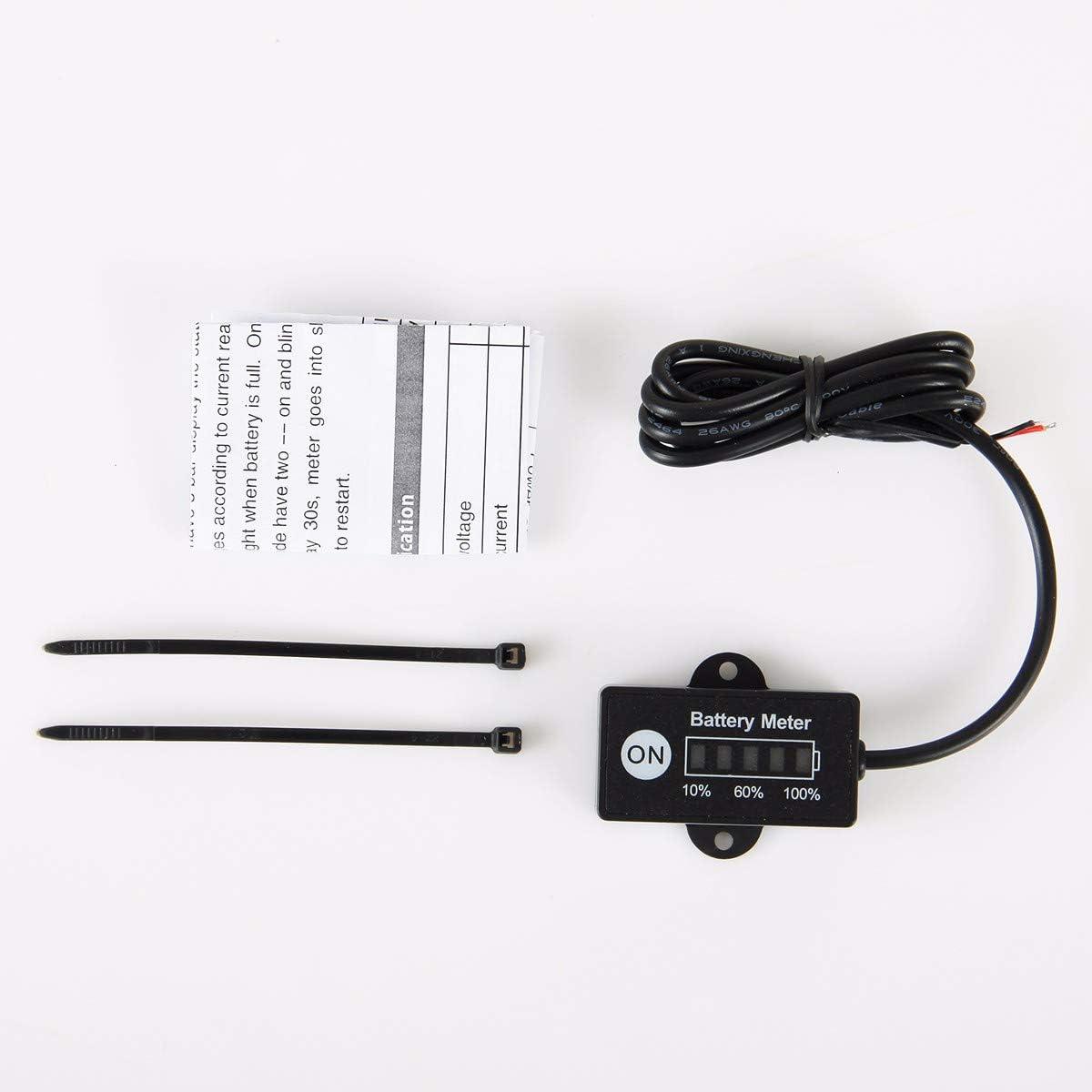 LiFePO4 Batterie Jayron JR-BI005 Mini LED Batterieanzeige Batterie Kraftstoffanzeigen f/ür allgemeine 12V 24VBatterie