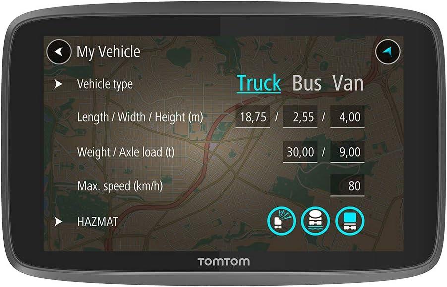 TomTom GO Professional 620 - Navegación Profesional para Vehículos Grandes, Tomtom Traffic a traves de Smartphone, 6 Pulgadas, Negro