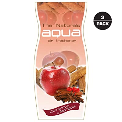 Aqua Fruit Car Air Freshener, Apple Cinnamon(Pack of 3): Automotive