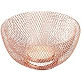 "NIFTY 7510COP Double Wall Mesh Decorative and Fruit Bowl, 3.5 quart/10"", Copper"