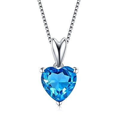 576ee10f5f2e LicLiz Azul corazón Colgante Collar Plata de Ley