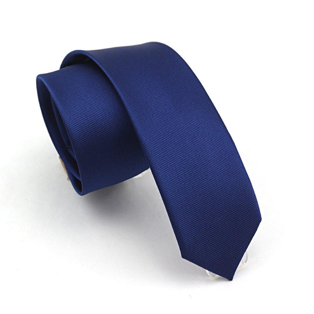 Elviros Écologique Cravate Étroit Solide Couleur Uni Homme 2.4    6cm   19022AM d79dddd991e