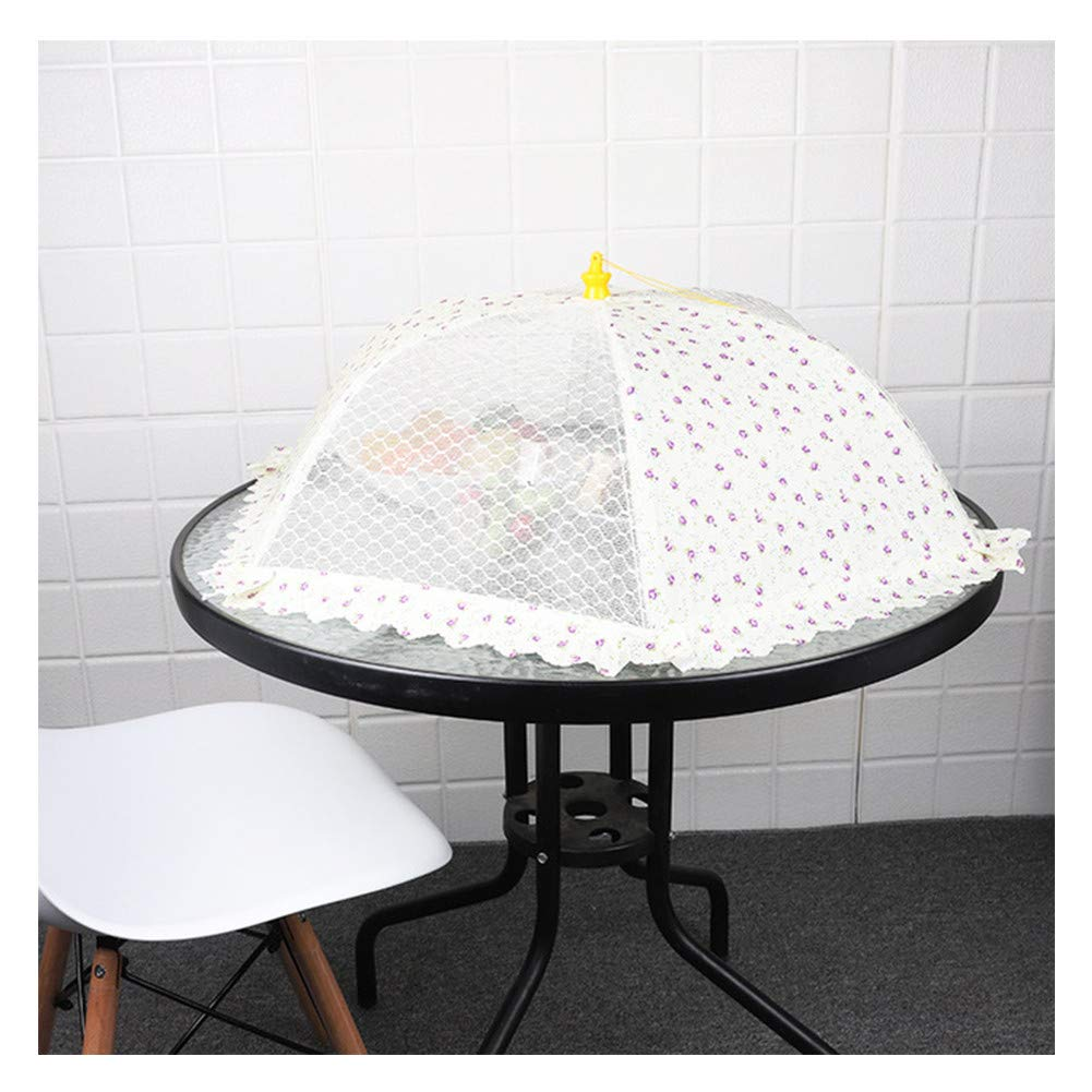 Food Cover Food Dish Cover, Small Floral New Dish Cover Foldable Multi-Purpose Dish Cover Table Dish Cover(3Pcs),D