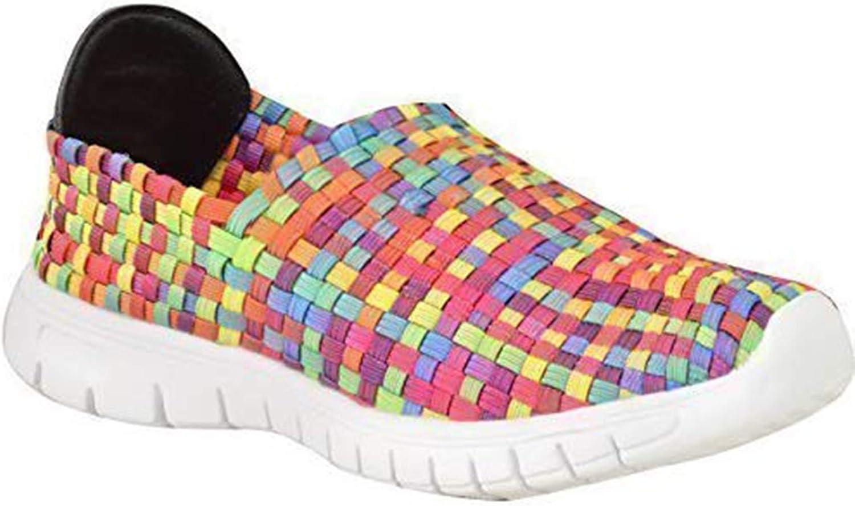 Zapatillas elásticas deportivas para mujer, cosidas, color, talla ...