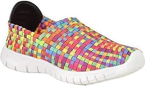 Zapatillas elásticas deportivas para mujer, cosidas, color, talla 42 ...