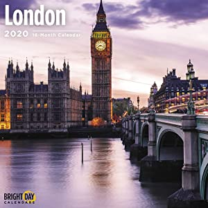 2020 London Wall Calendar by Bright Day, 16 Month 12 x 12 Inch, Big Ben European Travel Destination