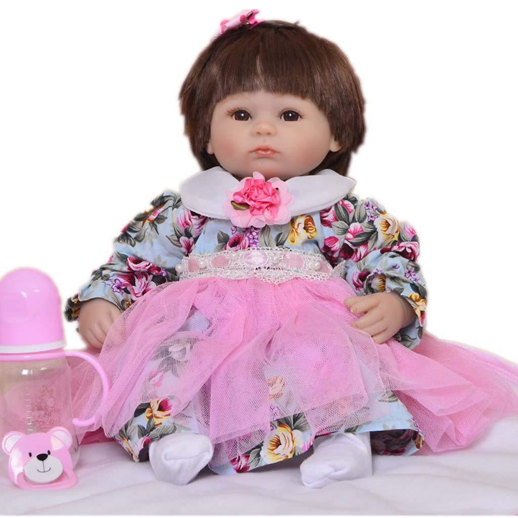 Reborn Baby Doll 16 Soft Vinyl Puppe Realistische, Weißh Silikon Realistisch und Lebensecht Aussehende Neugeborene Puppe Beste Geburtstagsgeschenk Für Alter 3