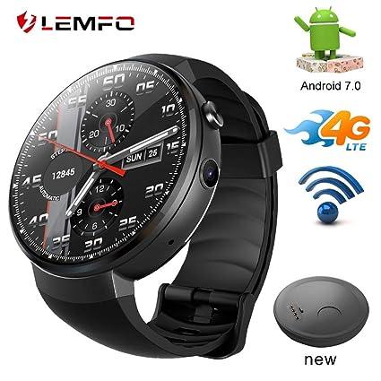 Amazon.com: LEMFO LEM7 4G LET Smart Watch Android 7.1 ...