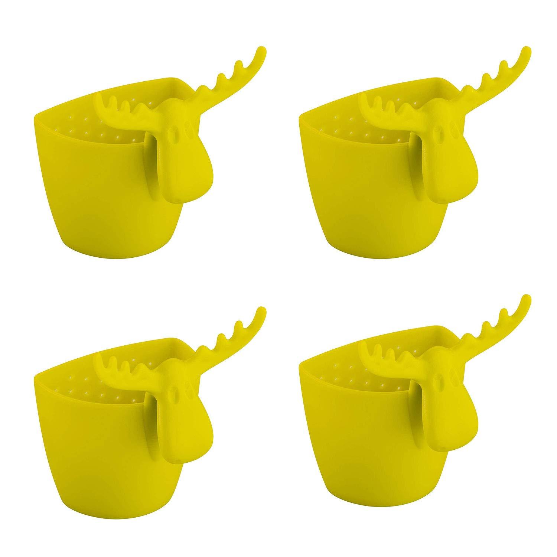 Koziol Rudolf Lot de 4 porte-sachets de th/é Vert uni