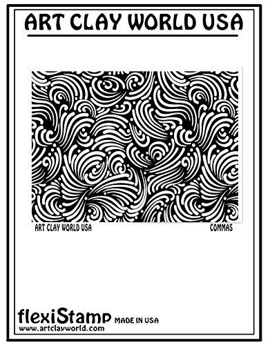 Flexistamps Texture Sheets Commas Positive Design - 1 Pc.