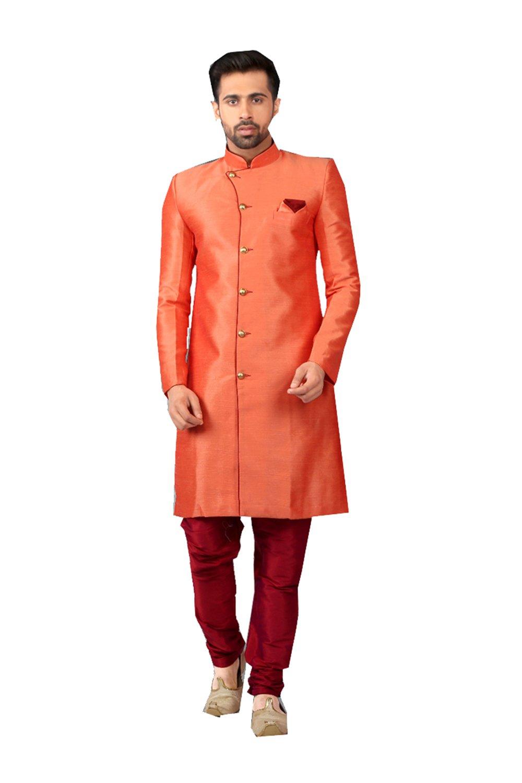 Fashions Trendz Indian Kurta Pajama Set For Men Wedding Festival Partywear